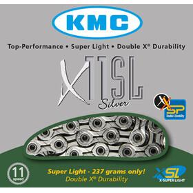 KMC X-11-SL - Chaîne - 11 vitesses 118 maillons argent